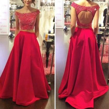 Charming Prom Dress,2 Pieces Prom D..