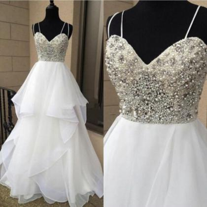 Beaded Embellished Sweetheart Doubl..