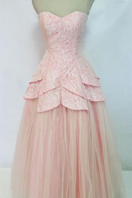 Prom Dress,Sweetheart Prom Dress,Tulle Prom Dress,Lace Prom Dress