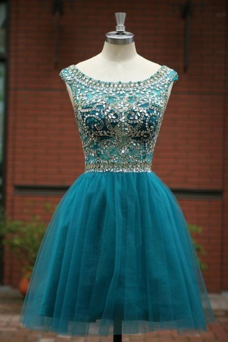 Sparkly Crystals Homecoming Dresses Deslumbrante Curto Short Graduation Dresses