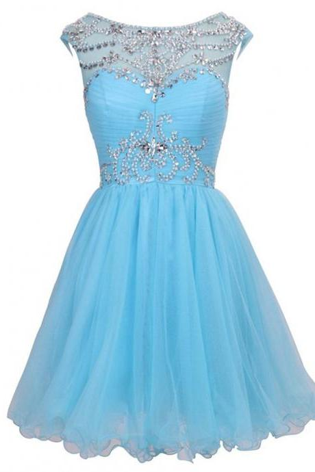 Graduation Dresses De Formatura De Manga Blue Short Homecoming Dresses Semi Formal Dresses for Women