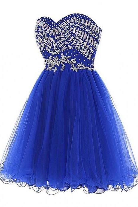 Grade Prom Dresses Shipping Royal Blue Short Homecoming Dress for Juniors Sweet