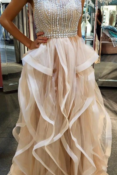 Beaded Prom Dresses,Sexy Prom Dress,Prom Dress,Ball Gown Prom Dresses,Charming Prom Dress,Formal Dress,Prom Gown For Teens