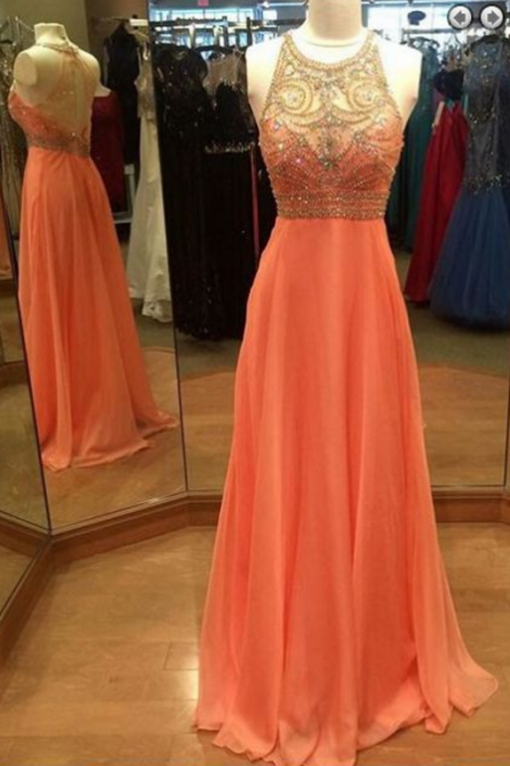 Long Prom Dress with Keyhole Back