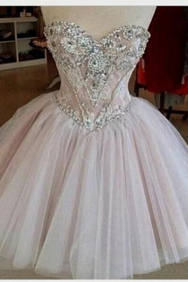 Charming PROM Dress Beading EVENING Dress Sweetheart PARTY Dress Noble Short Prom Dress