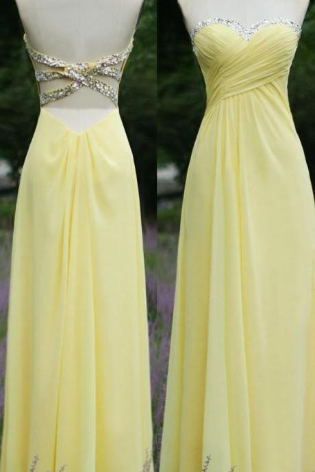 Brief Prom Dress Sequined evening Dress A-Line Prom Dress Strapless Prom Dress Chiffon Prom Dress
