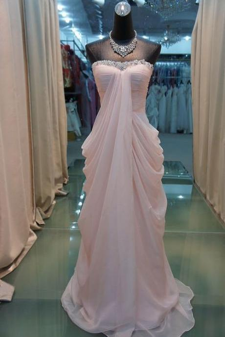 High Quality Prom Dress Chiffon Prom Dress A-Line PARTY Dress Strapless EVENING Dress Sequined Prom Dress