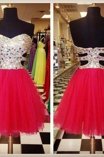 Charming EVENING Dress Sequined PROM Dress Short Homecoming Dress