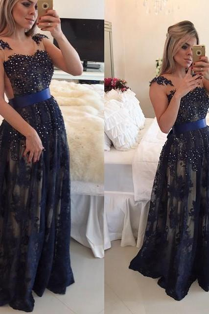 Elegant Evening Dress, Lace Evening Dress,2015 Evening Dress,Beaded Evening Dress,Sexy Evening Dresses,Cheap Evening Dress,Dresses For Women