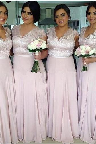 Lace Bridesmaid Dresses Bridesmaid Dresses, Mismatched Bridesmaid Dresses, Cheap Bridesmaid Dresses, Long Bridesmaid Dresses,Chiffon Bridesmaid Dress,Bridesmaid Gowns