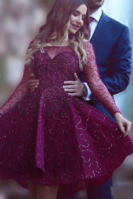 Burgundy Homecoming Dress,Wine Red Homecoming Dresses,Beading Homecoming Gowns,Cute Party Dress,Short Prom Dress,Sweet 16 Dress,Sparkly Homecoming Dresses,New Style Cocktail Gown
