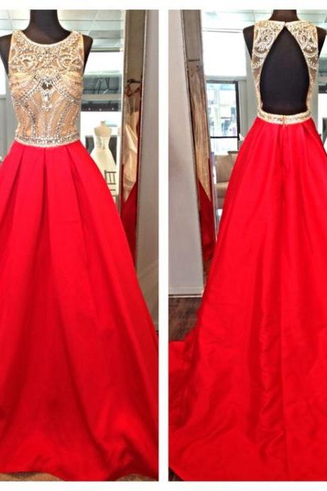 Red Prom Dresses,Open Back Prom Gowns,Backless Prom Dresses,Sparkle Party Dresses,Long Prom Gown,Open Backs Prom Dress, Evening Gowns,Sparkly Formal Gown