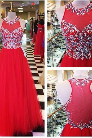 Red Prom Dresses,Prom Dress,Red Prom Gown,Prom Gowns,Elegant Evening Dress,Modest Evening Gowns,Simple Party Gowns,2016 Prom Dress
