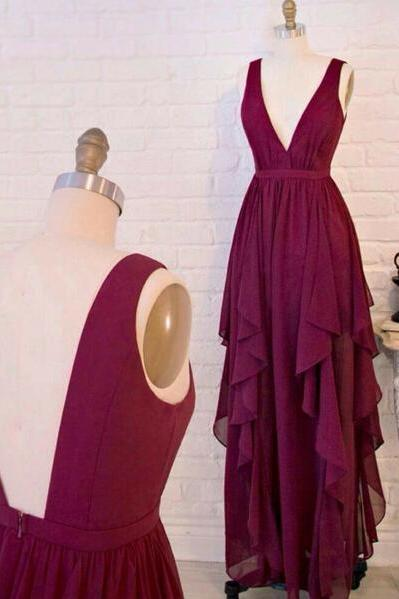 Burgundy Prom Dresses,Wine Red Evening Gowns,Modest Formal Dresses,Burgundy Prom Dresses,2016 New Fashion Evening Gown,High Low Evening Dress,Long Evening Gowns