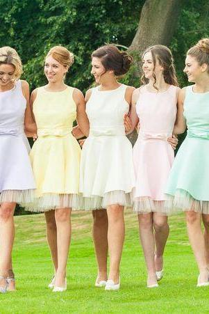 Bridesmaid Dresses,Short Bridesmaid Dresses,Colorful Bridesmaid Dresses,Custom Made Bridesmaid Dresses,Cheap Bridesmaid Dresses,Cute Bridesmaid Dresses