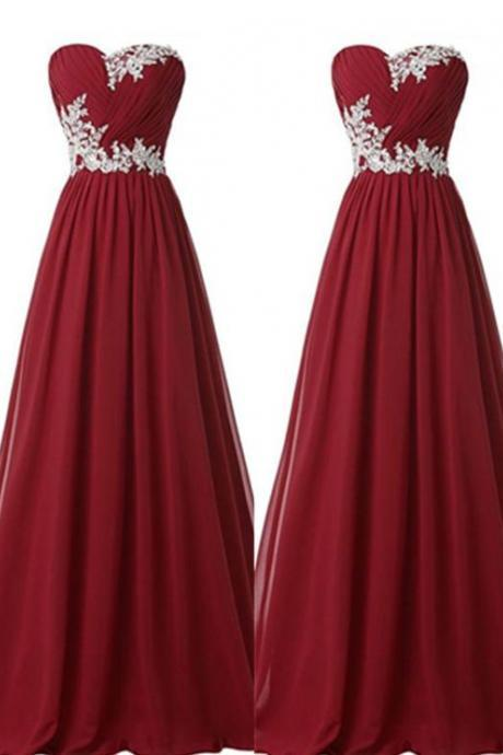Prom Dresses,Burgundy Prom Dresses,Lace Prom Gown,Prom Gowns,Simple Evening Dress,Lace Evening Dress,Wine Red Formal Dress, Party Gowns