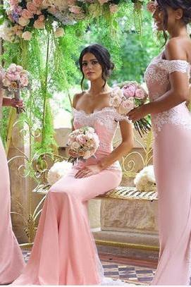 Prom Dresses,Prom Dress,Off the Shoulder Prom Dress,Mermaid Long Prom Dress,Satin Bridesmaid Dress,Bridesmaid Dresses