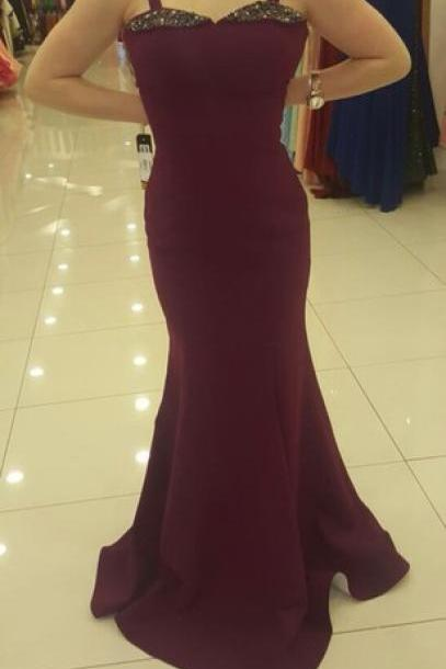 Prom Dresses,Evening Dress,Party Dresses,Prom Gown,Wine Red Prom Dresses,Evening Gowns,Mermaid Formal Dresses,Burgundy Prom Dresses
