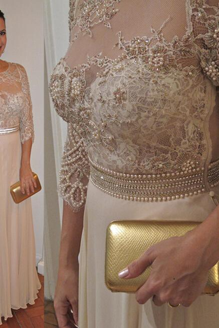 Prom Dresses,Evening Dress,Party Dresses,Fashion Prom Dresses,Champagne Prom Dress, Formal Gown,Prom Dresses,Lace Evening Gowns,Lace Formal Gown For Teens
