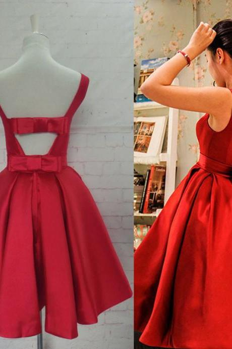 Red Homecoming Dress,Red Homecoming Dresses,Satin Homecoming Dress,Party Dress,Prom Gown, Sweet 16 Dress,Cocktail Gowns,Short Evening Gowns,Homecoming Dresses