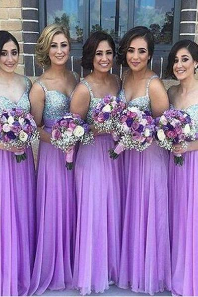 Chiffon Bridesmaid Dress,Lilac Bridesmaid Gown,Bridesmaid Gowns,Bridesmaid Dresses,Bridesmaid Gowns
