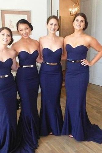 Bridesmaid Dresses,Long Bridesmaid Gown,Royal Blue Bridesmaid Gowns,Simple Bridesmaid Dresses,Bridesmaid Gowns,Chiffon Bridesmaid Gowns