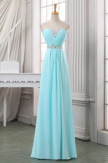 Prom Dresses,Evening Dress,Party Dresses,V-Neck Green Long Prom Dress/A-Line Floor Length Chiffon Prom Dress/Zipper/Lace-Up Bridesmaid Dresses/Prom Dresses/Long Chiffon Dresses