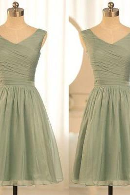 bridesmaid Dresses,Short bridesmaid dresses, champagne bridesmaid dress, junior bridesmaid dress, cheap bridesmaid dresses, wedding party dress