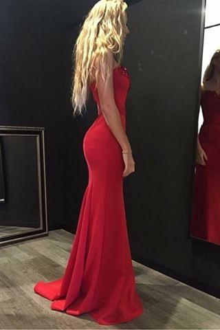 Prom Dresses,Evening Dress,Party Dresses,2017 Red Sweetheart Mermaid Prom Dress, Evening Gown,Homecoming Dress Crystals Party Gowbs