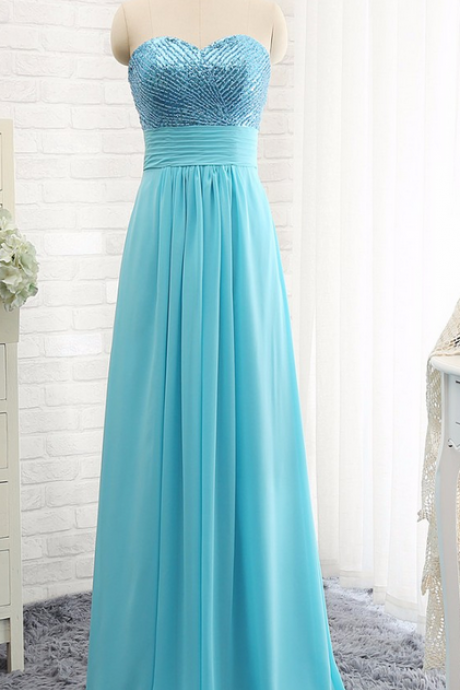 Prom Dresses,Evening Dress,Party Dresses, festa blue beads chiffon long evening dress 2017 formal women gowns