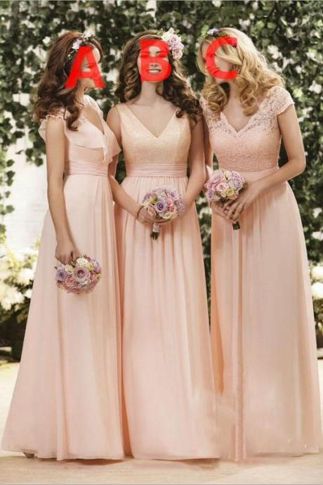 Bridesmaid Dresses ,Chiffon Bridesmaid Dresses ,Free Custom Bridesmaid Dresses ,Pretty Bridesmaid Dresses , Wedding Guest Dresses ,Long Bridesmaid Dresses