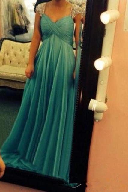 Prom Dress, Sexy Evening Dress,Cap Sleeve Chiffon Prom Dress,Chiffon Evening Dress,Backless Party Dress ,High Quality Graduation Dresses,Wedding Guest Prom Gowns, Formal Occasion Dresses,Formal Dress