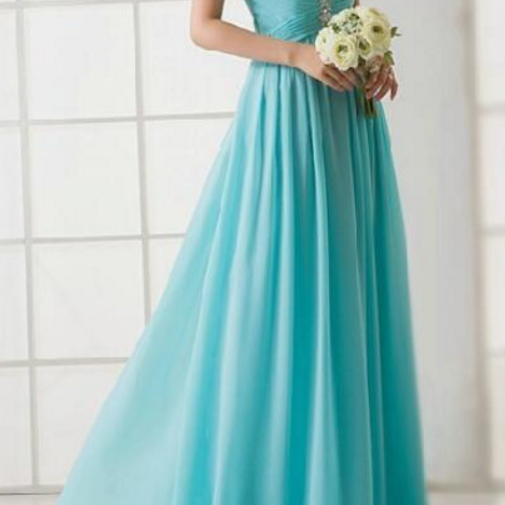 V Neck Long Chiffon Dress with Sheer Back