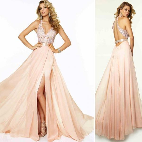 Custom Lace Chiffon Long Prom Dresses Full Length Party Evening Dress Bridesmaid Dresses Women Dresses