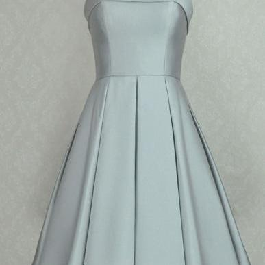 Newest Gray Short Prom Dresses, Simple Prom Dresses, Short Evening Dresses,Prom Dresses, Bridesmaid Dresses
