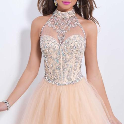 Homecoming Dress,Chiffon Homecoming Dresses,Short Prom Gown,Champagne Homecoming Gowns,2016 Homecoming Dress,Ball Gown Homecoming Dresses, Sweet 16 Dress For Teens