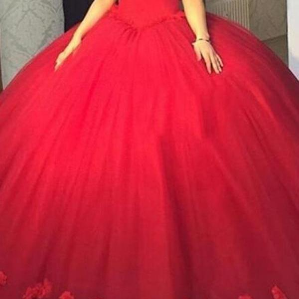 Prom Dresses,Evening Dress,Party Dresses,Red Prom Dresses,Ball Gown Prom Dress,Off Shoulder Red Prom Gown,Tulle Prom Gowns,Elegant Evening Dress,Modest Evening Gowns,Simple Party Gowns,Tulle Prom Dress